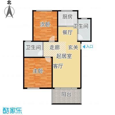 广厦阳光城90.42㎡C户型 3室2厅1卫1厨户型3室2厅1卫