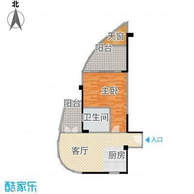 中航元屿海77.00㎡B1型户型1室1卫