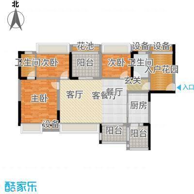 神州华府二期118.76㎡12、13栋118平米三房户型图户型3室2厅2卫