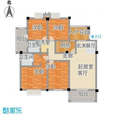 明发锦绣银山155.00㎡花园洋房H4-3户型4室2厅-T