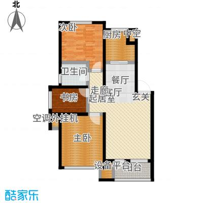 保利・罗兰香谷三室二厅一卫 98平米户型3室2厅1卫