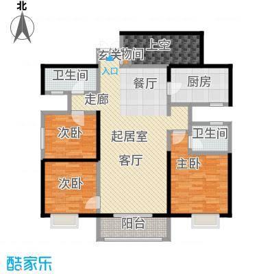 曲江观山悦140.44㎡3室2厅2卫1厨户型3室2厅2卫