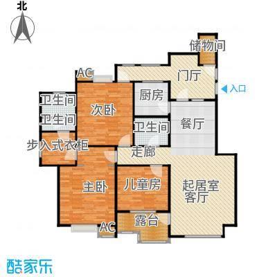 中天首府159.00㎡三居户型3室2厅2卫