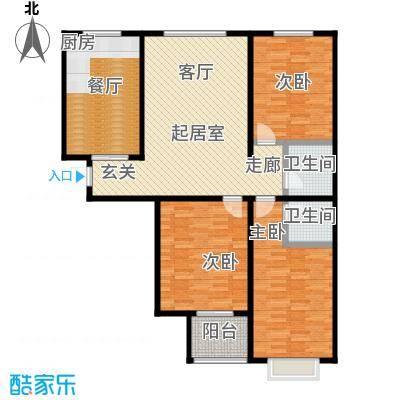 东盛嘉园户型3室1厅2卫