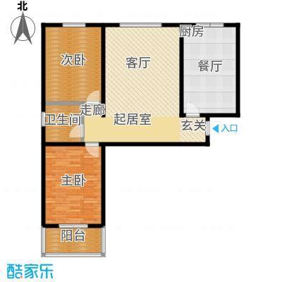 东盛嘉园户型2室1厅1卫