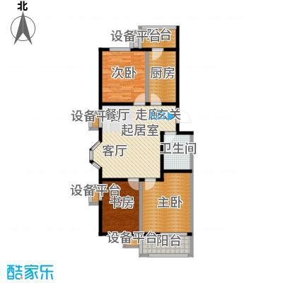 美茵小镇三室一厅一卫 97.87-100.23平米户型
