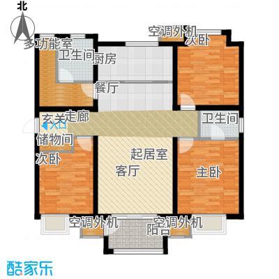 大地12城二期--朗琴园144.00㎡三室两厅两卫户型3室2厅2卫