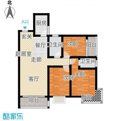 丽景华庭户型3室2卫1厨