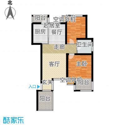大地12城二期--朗琴园96.97平米2室户型