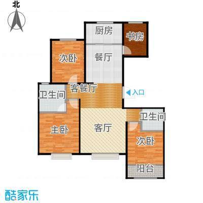 天成・明月洲139.00㎡21-K户型3室2厅2卫