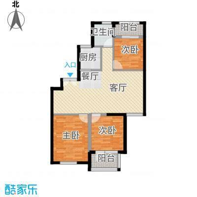 淮矿馥邦天下91.00㎡户型3室2厅1卫