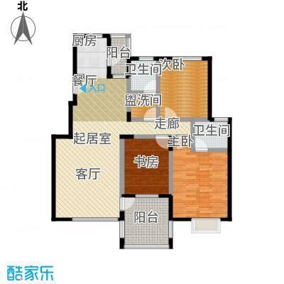 花前树下(二期)105.59㎡房型: 三房; 面积段: 105.59 -139.86 平方米;户型