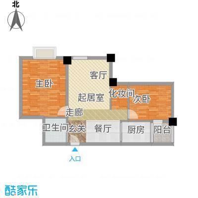 金色港湾两室两厅一卫,94.3户型