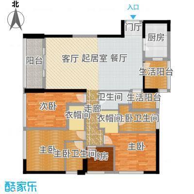 华贸中心户型4室1卫1厨