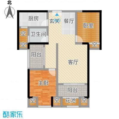 ECO城86.00㎡15#楼86m²百变空间享户型2室2厅1卫