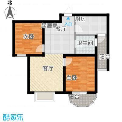 贻成・御景国际92.00㎡贻成・御景国际丨�景户型2室2厅1卫