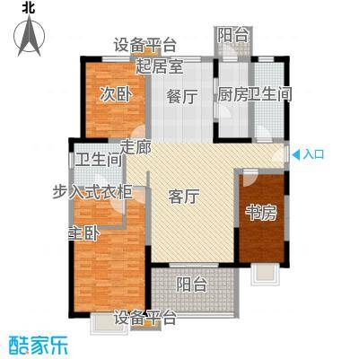 """贻成・御景国际D1""""宜居"""",独家创造户型3室2厅2卫"""