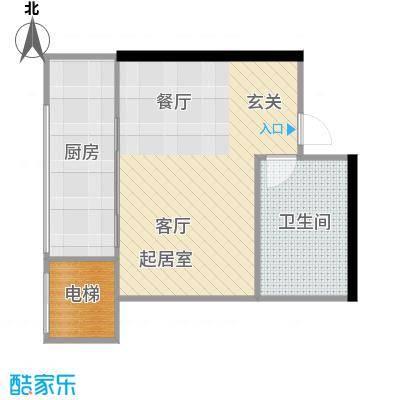 盛世闲庭二期21.14平方米户型