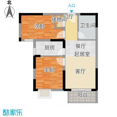 野风・现代景苑69.77㎡1#8#5-25层03户型10室