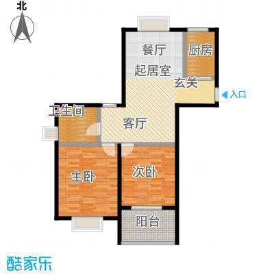 金域兰庭90.00㎡F-1户型3室2厅1卫