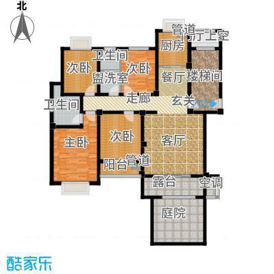 中建绿洲国际花园140.00㎡三室两厅两卫户型