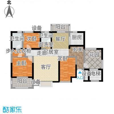 麟凤尊汇134.78㎡A2户型3室2厅2卫