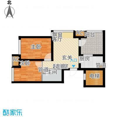 钓鱼台三号院户型图户型2室1厅1卫