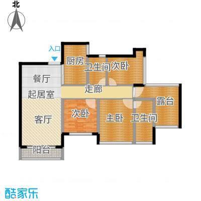 三亚孔雀城120.00㎡F户型3室1厅2卫