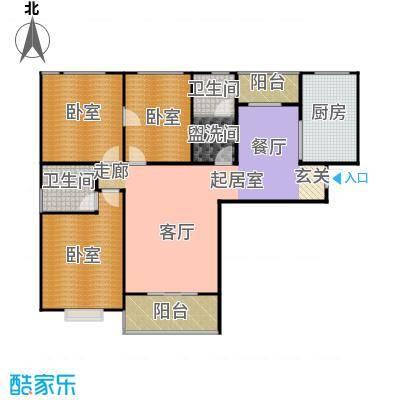 南阳南都秋实苑三室两厅两卫户型3室2厅2卫