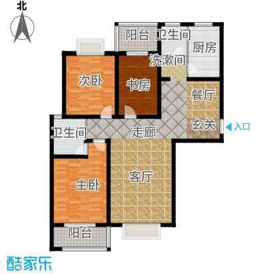 南阳桂花城御景138.58㎡3室2厅2卫1厨户型3室2厅2卫