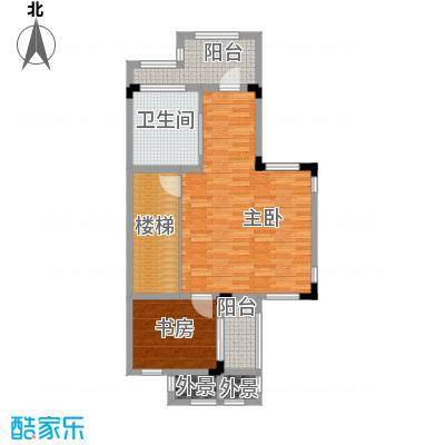 壹号公馆74.00㎡别墅D三层户型4室2厅4卫
