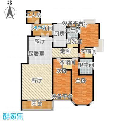 绅派金湖帝景243.00㎡三室二厅二卫户型