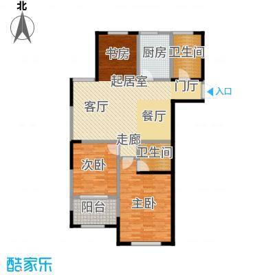 云厦阳光福邸103.00㎡K户型3室2厅2卫
