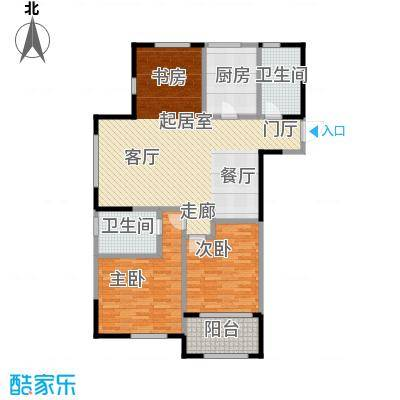 云厦阳光福邸118.00㎡B户型3室2厅2卫