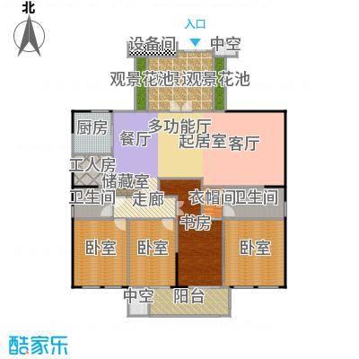 银都花园8号228.00㎡五房二厅二卫,约228平米户型5室2厅2卫