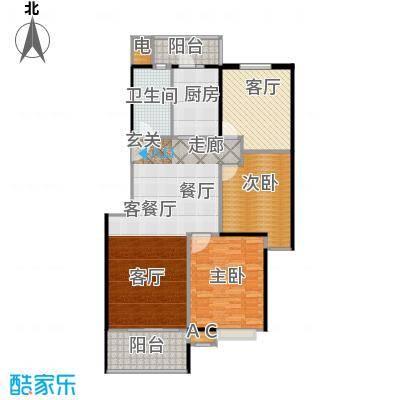 宇隆新潭故里112.66㎡新潭故里B1户型图户型3室2厅2卫