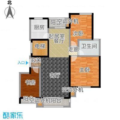 锦尚天华113.38㎡5号楼 A户型2室2厅1卫