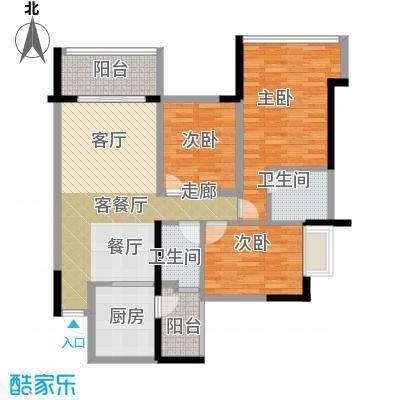 增城雅居乐御宾府盈通街119.00㎡3座03/04单位4座5座01/06单位户型3室1厅2卫1厨