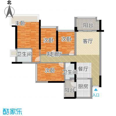 增城雅居乐御宾府盈通街133.00㎡3座02/05单位户型4室1厅2卫1厨