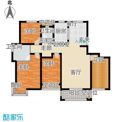 昊和沁园26#楼户型3室2卫1厨