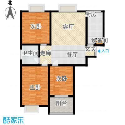 东城新华风景118.00㎡二期1号楼标准层2室1厅1卫户型2室1厅1卫