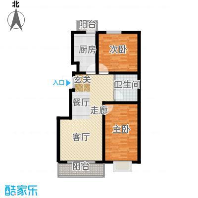 海东盛景33号楼 B户型 两室两厅一卫 92㎡户型2室2厅1卫