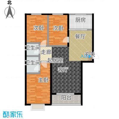 天鸿尚都三室两厅一卫 136.28㎡户型3室2厅1卫