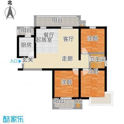 怡水公馆3室2厅1卫户型3室2厅1卫-T