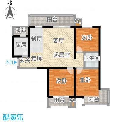 怡水公馆2室1厅1卫户型3室1厅1卫