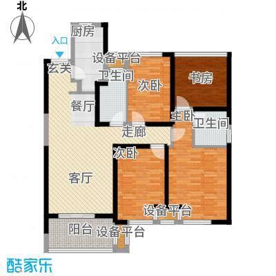新城玖珑湖户型4室1厅2卫1厨