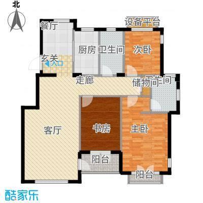 葫芦岛加州海岸三室两厅两卫125.22平米户型3室2厅2卫