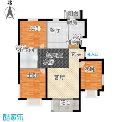 银河家园120.00㎡三室二厅户型
