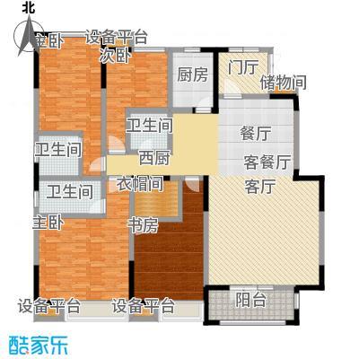天安珑园209.00㎡一期洋房209平米C户型4室3厅3卫
