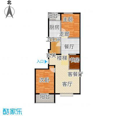 联想科技城布局合理、分区科学户型3室1厅1卫1厨